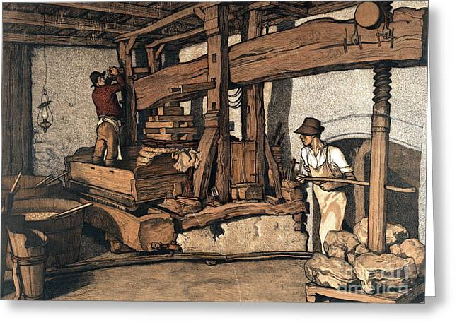 Wine Press 1890 Greeting Card by Padre Art
