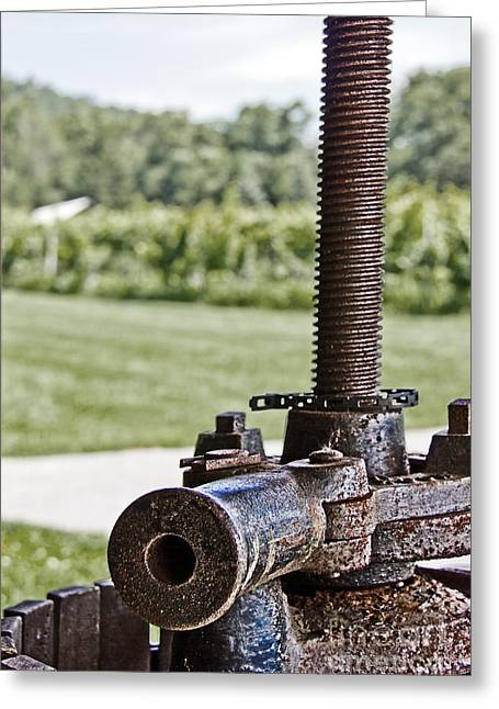 Manual Greeting Cards - Wine Press Greeting Card by Tom Gari Gallery-Three-Photography