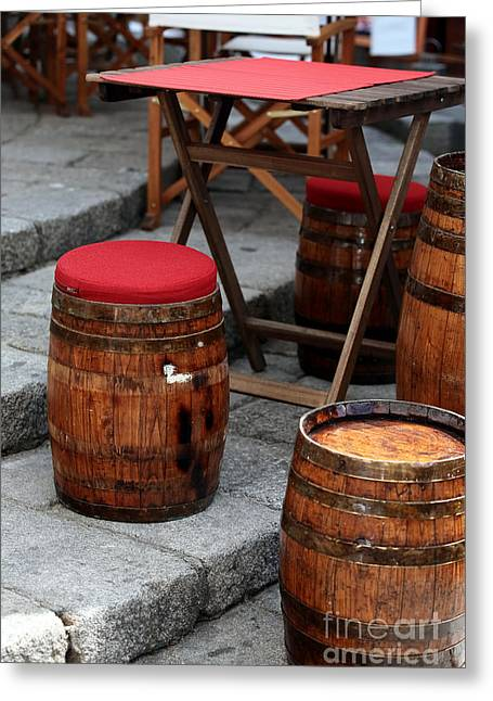 Wine Scene Photographs Greeting Cards - Wine Seats Greeting Card by John Rizzuto