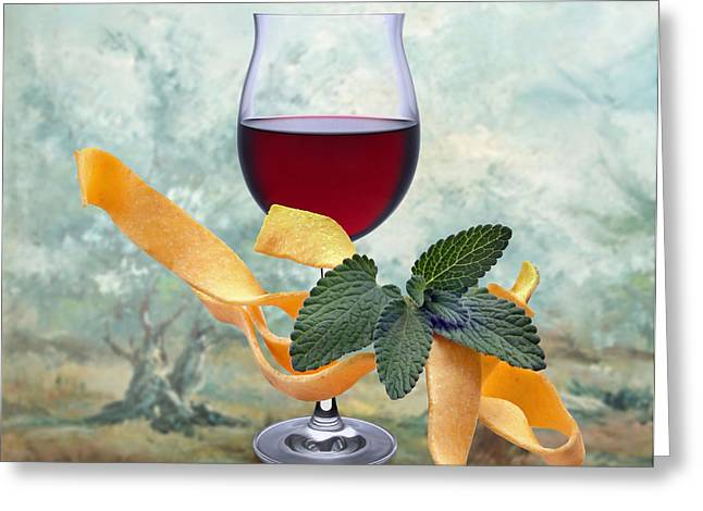 Noodles Greeting Cards - Wine spirits 2 Greeting Card by Manfred Lutzius