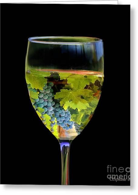 Wine Greeting Card by Stephanie Laird