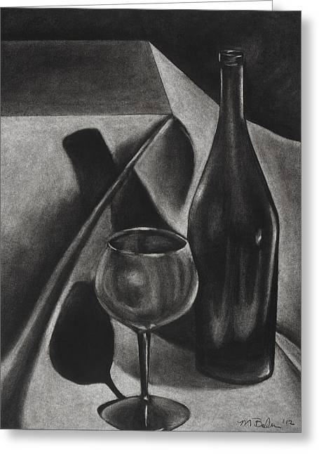 Michelle Drawings Greeting Cards - Wine Still life Greeting Card by Michelle L Bolin