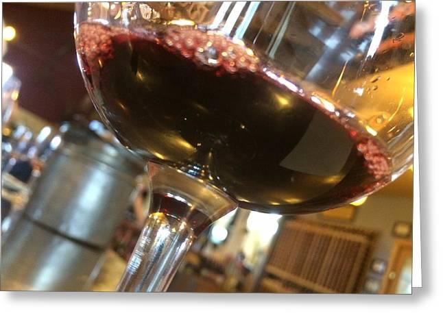 Wine Scene Greeting Cards - Wine Tasting Greeting Card by Anna Willard