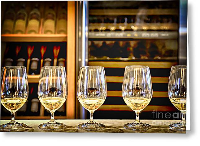 Counter Greeting Cards - Wine tasting  Greeting Card by Elena Elisseeva