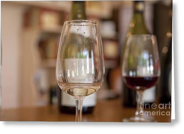 Wine Tasting Greeting Card by Patricia Hofmeester