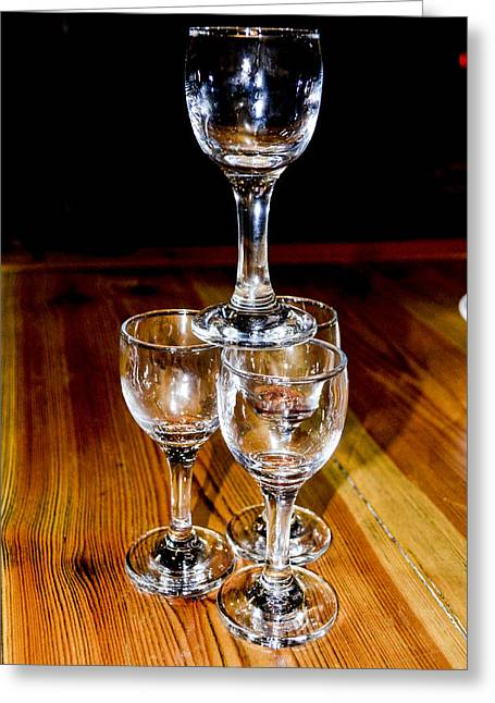 Birthright Greeting Cards - Wine Tasting Tower Greeting Card by Alan Marlowe