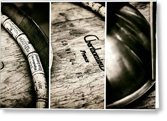 Cellar Greeting Cards - Wine Tasting Triptych Greeting Card by Nomad Art And  Design