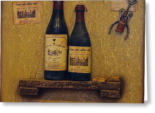 Hooch Greeting Cards - Wine Time Greeting Card by Frozen in Time Fine Art Photography