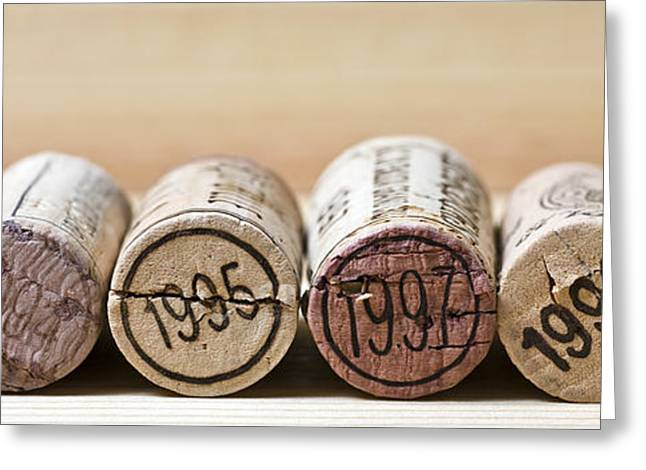 Fine Wine Greeting Cards - Wine Vintages Greeting Card by Frank Tschakert