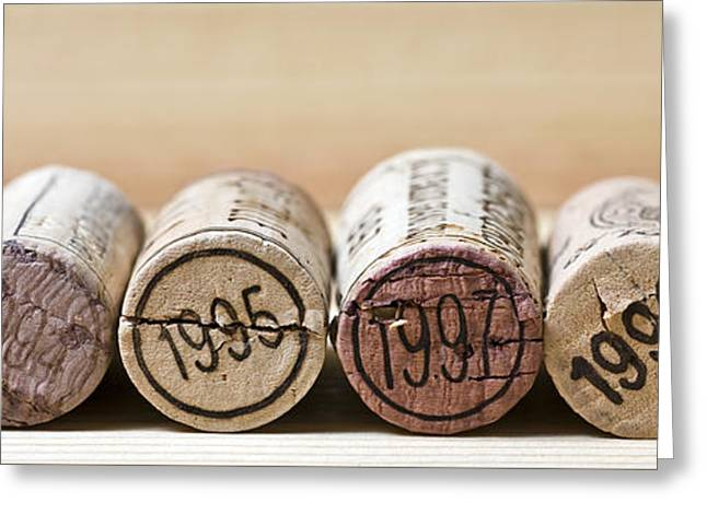 Wine Vintages Greeting Card by Frank Tschakert