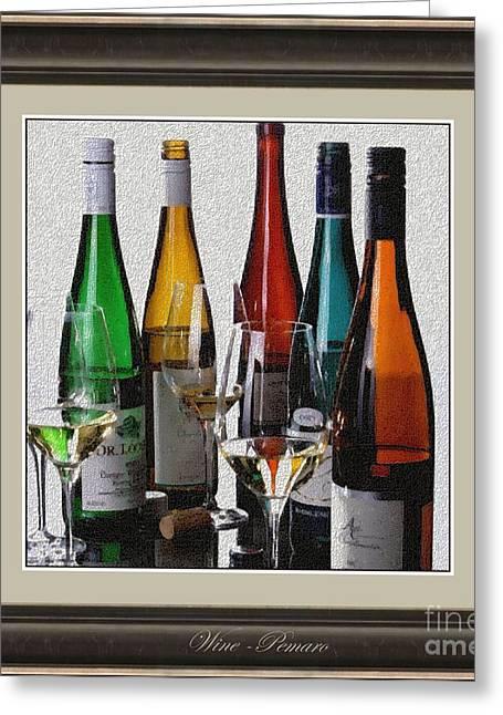 Pemaro Greeting Cards - Wine W2 Greeting Card by Pemaro