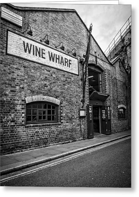 Borough Market Greeting Cards - Wine Warehouse Greeting Card by Heather Applegate