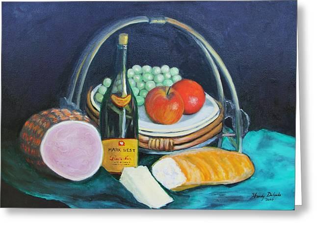 Fruit And Wine Greeting Cards - Wine  Greeting Card by Wendy Delgado