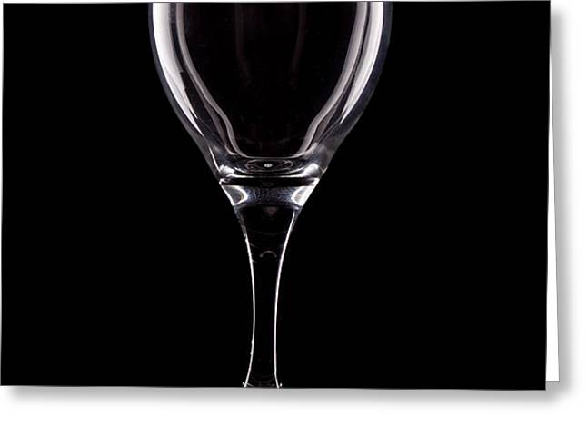 Wineglass Greeting Card by Tom Mc Nemar