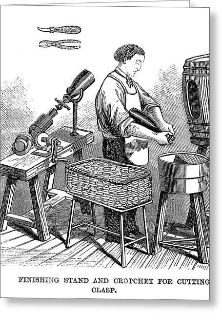 Winemaking Finishing, 1866 Greeting Card by Granger