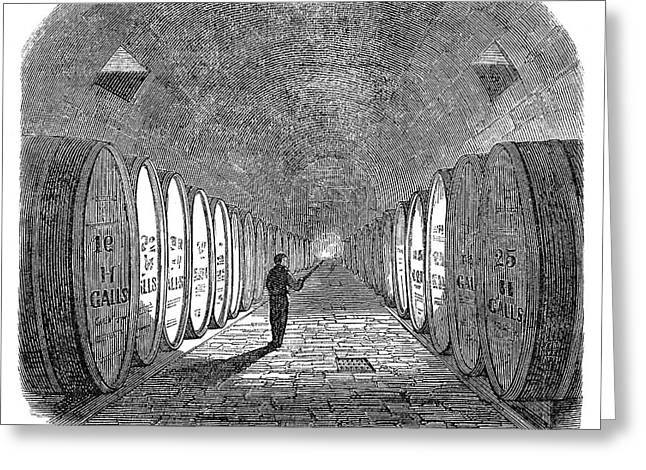 Winemaking Vault, 1866 Greeting Card by Granger
