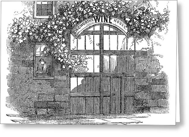 Winemaking Wine Vault Greeting Card by Granger