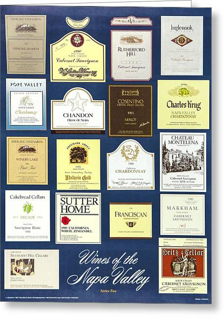 Zinfandel Greeting Cards - Wines of the Napa Valley - Series 2 Greeting Card by J Michael Orr