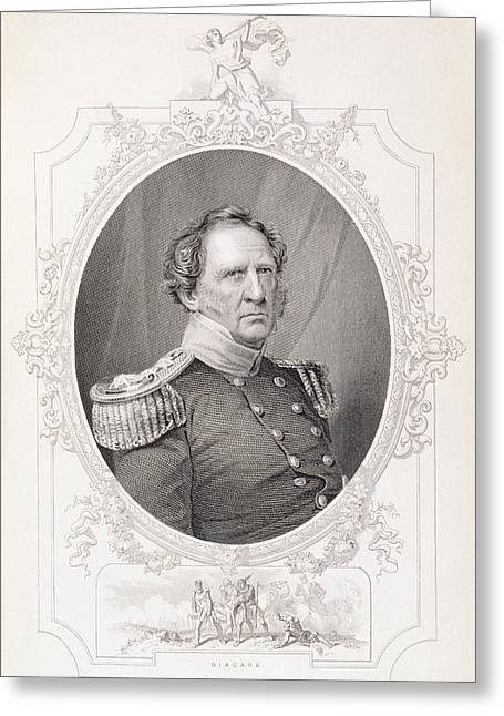 Battle Greeting Cards - Winfield Scott 1786-1866 From The History Of The United States, Vol. Ii, By Charles Mackay Greeting Card by Mathew Brady