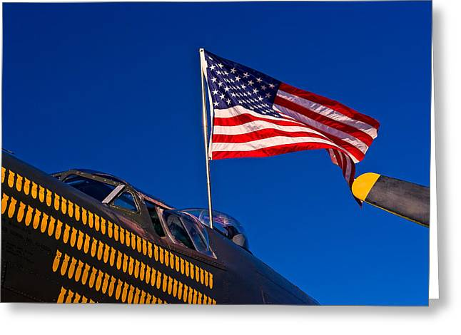 Wing Of Freedom Greeting Card by Jeff Sinon