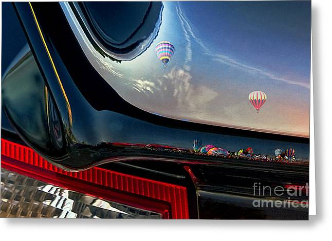 Hot Air Balloon Mixed Media Greeting Cards - Winged flight Greeting Card by Alan Greene