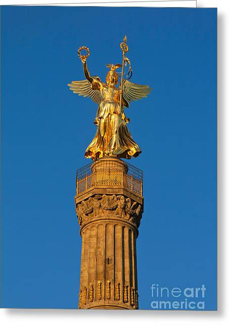 Winged Roman Goddess Of Victory Greeting Card by Peter Jost
