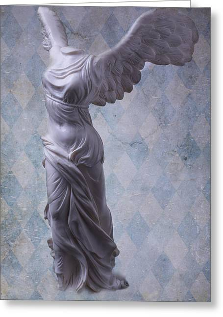 Nike Greeting Cards - Winged Victory Greeting Card by Garry Gay