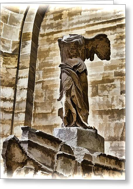 """winged Victory"" Greeting Cards - Winged Victory - Louvre Greeting Card by Jon Berghoff"