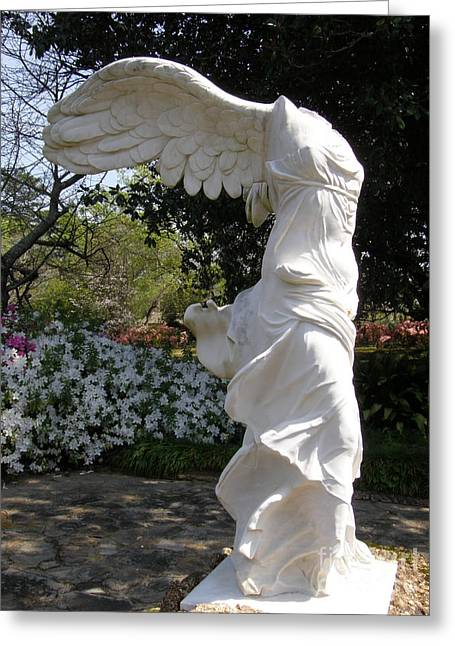 """winged Victory"" Greeting Cards - Winged Victory Nike Greeting Card by Caryl J Bohn"