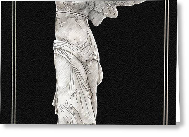 Winged Victory - Nike of Samothrace Greeting Card by Jerrett Dornbusch