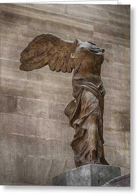 Greek Sculpture Greeting Cards - Winged Victory of Samothrace Greeting Card by Carl Purcell