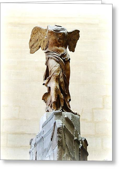 """winged Victory"" Greeting Cards - Winged Victory of Samothrace Greeting Card by Conor OBrien"