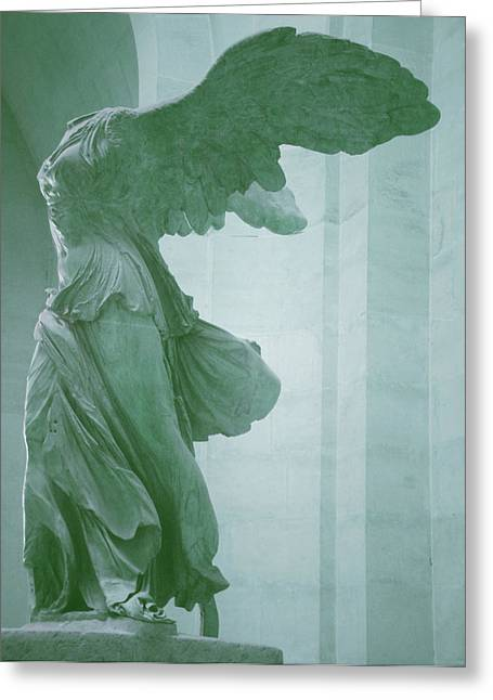 """winged Victory"" Greeting Cards - Winged Victory Of Samothrace Statue at the Louvre Museum        Greeting Card by The Art With A Heart By Charlotte Phillips"