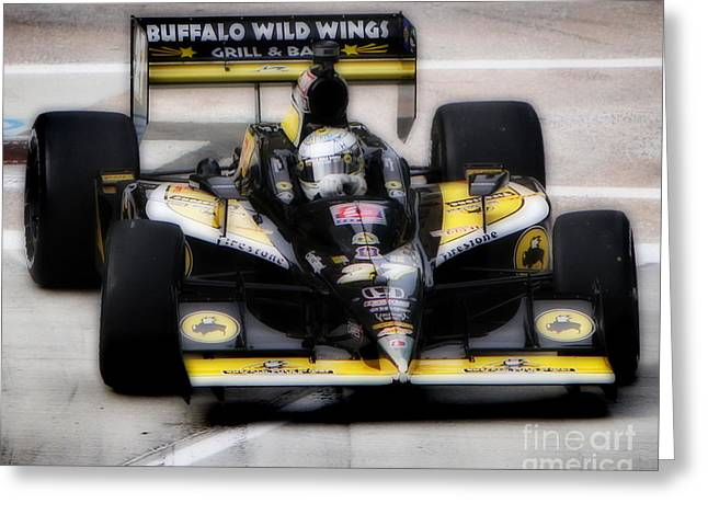 Indy Car Greeting Cards - Wings and Racing Greeting Card by Bryan Maransky