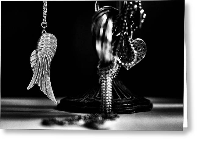 Gold Necklace Greeting Cards - Wings Of Desire II Greeting Card by Marco Oliveira
