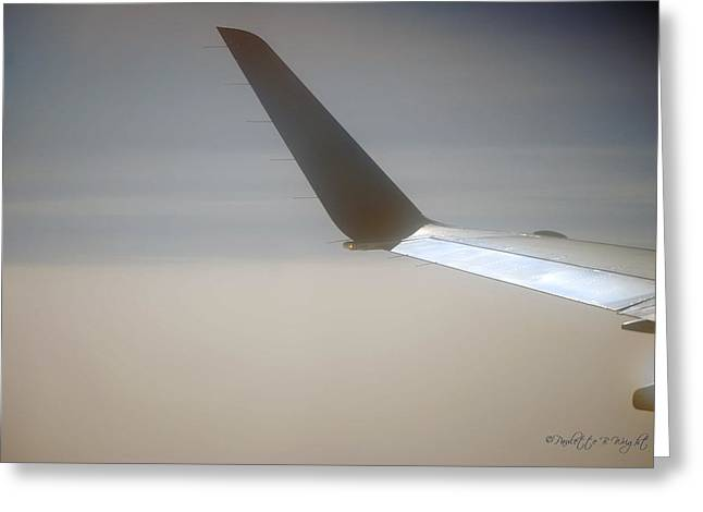 Wingtips Greeting Cards - Wingtip Light Greeting Card by Paulette B Wright