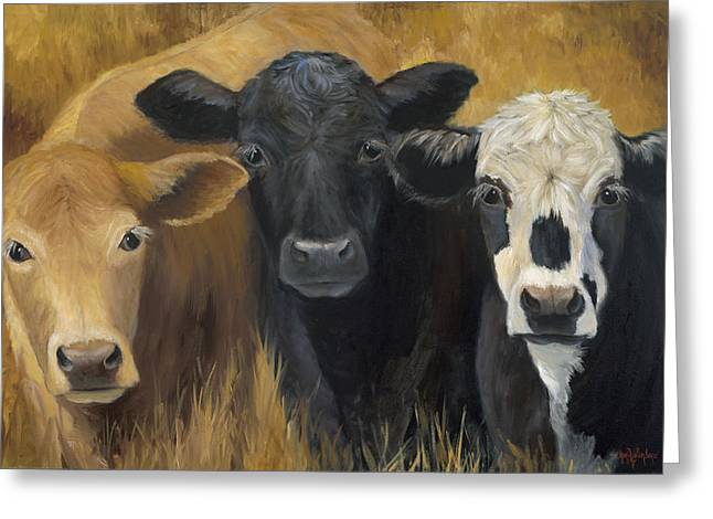 Cow Images Greeting Cards - Winken Blinken And Nod Greeting Card by Cheri Wollenberg
