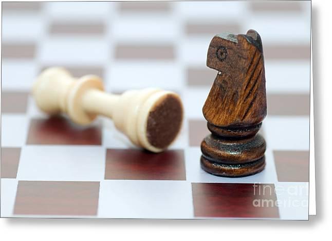 Game Piece Greeting Cards - Winner and loser Greeting Card by Michal Bednarek