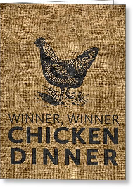 Winner Digital Art Greeting Cards - Winner Winner Greeting Card by Nancy Ingersoll