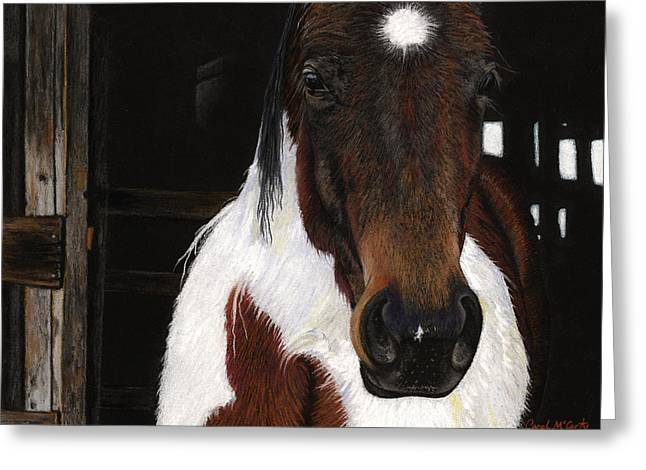 Farm Animals Pastels Greeting Cards - Winners Circle Greeting Card by Carol McCarty