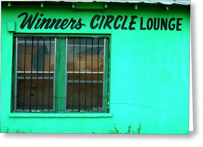 Gia Marie Houck Greeting Cards - Winners Circle Lounge Greeting Card by Gia Marie Houck