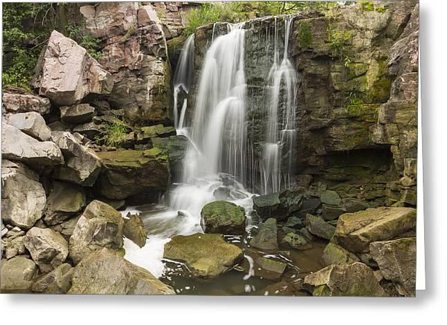 Water Flowing Greeting Cards - Winnewissa Falls 2 B Greeting Card by John Brueske