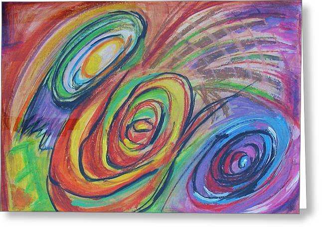 Abstract Movement Pastels Greeting Cards - Winnicotts Way Greeting Card by Heather Randazzo