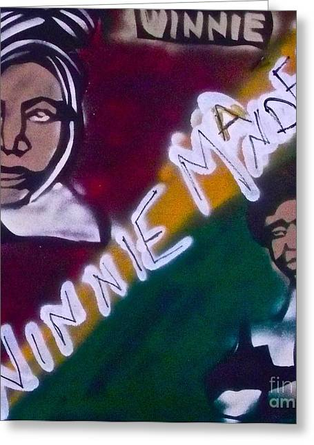 Sojourner Truth Greeting Cards - Winnie Mandela Greeting Card by Tony B Conscious