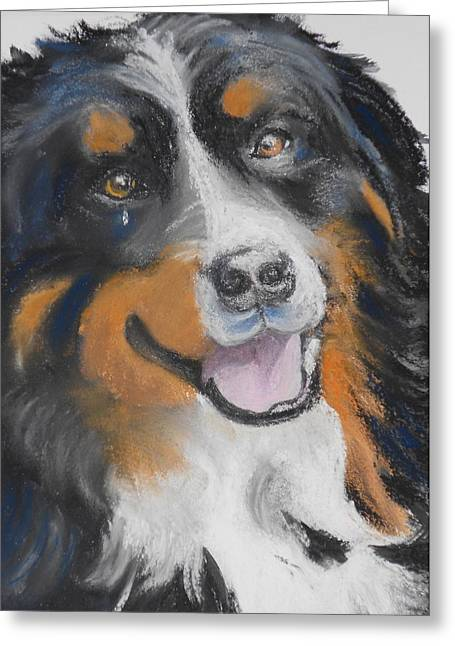 Doggie Pastels Greeting Cards - Winnie Greeting Card by Susan Galassi