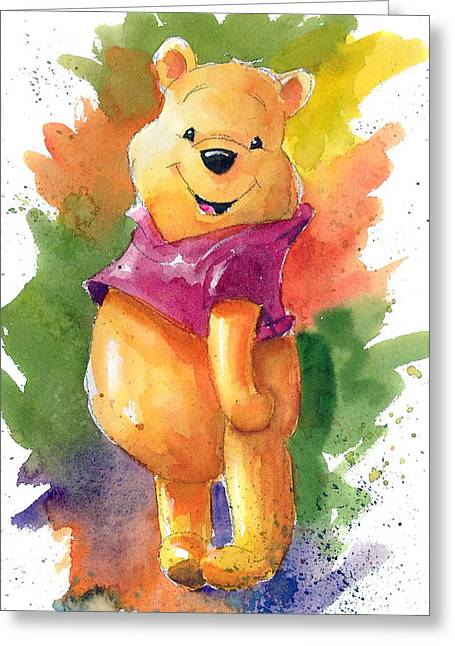 The Greeting Cards - Winnie the Pooh Greeting Card by Andrew Fling