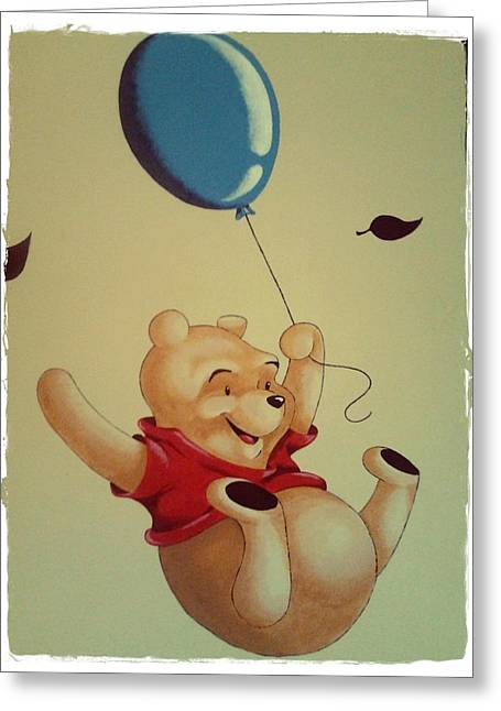 Winnie The Pooh Greeting Card by Jesus Catalan