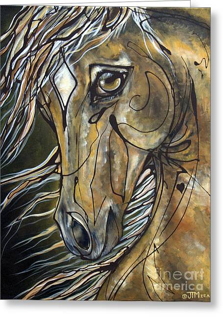 Paso Fino Horse Greeting Cards - Winning Hand Greeting Card by Jonelle T McCoy