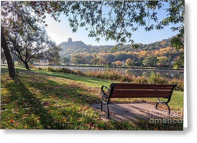 Recently Sold -  - Fall Scenes Greeting Cards - Winona Gift - Seat with a View Greeting Card by Kari Yearous