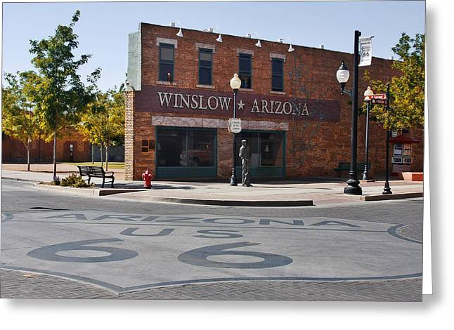 In The Corner Greeting Cards - Winslow Arizona - Such a fine sight to see Greeting Card by Christine Till